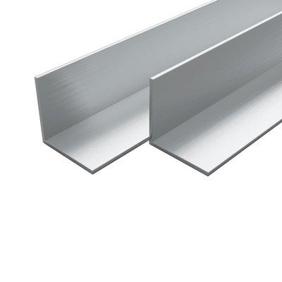 Hoekbuizen L-profiel 1m 15x15x2 mm aluminium 4 st