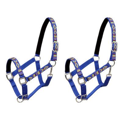 Hoofdstellen voor paard maat cob nylon blauw 2 st