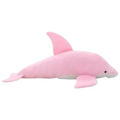 Knuffel dolfijn pluche roze