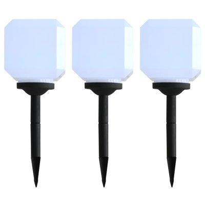 LED-solarlampen kubus 20 cm wit 3 st
