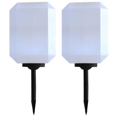 LED-solarlampen 30 cm wit 2 st