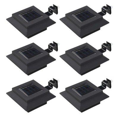 LED-solarlampen vierkant 12 cm zwart 6 st