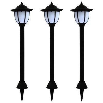 LED-solarlampen zwart 3 st