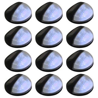 LED-wandlampen solar rond zwart 12 st