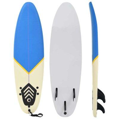Surfboard 170 cm blauw en crème