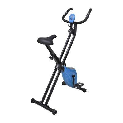 Hometrainer X-bike magnetisch met hartslagmeter zwart en blauw