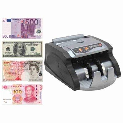 Geldteller voor bankbiljetten zwart en grijs