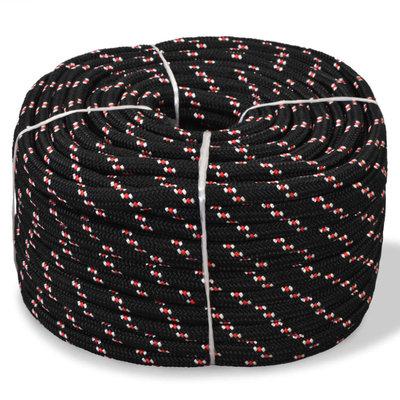 Boot touw 6 mm 500 m polypropyleen zwart