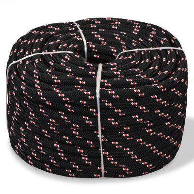 Boot touw 12 mm 250 m polypropyleen zwart