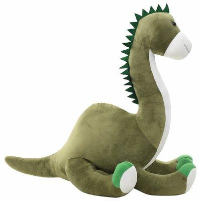 Knuffel dinosaurus brontosaurus pluche groen