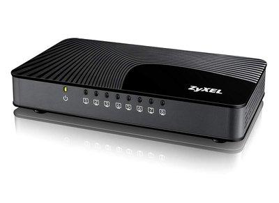 ZyXEL GS-108S v2 Gigabit Ethernet (10/100/1000) Zwart