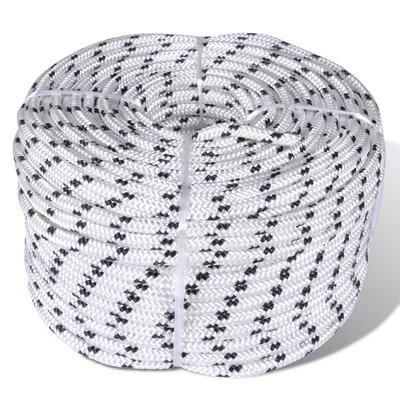 Boottouw gevlochten 6 mm 250 m polyester wit