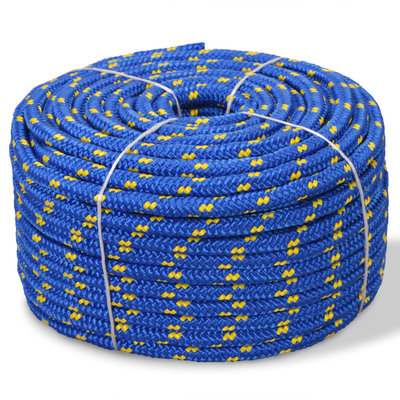 Boot touw 16 mm 50 m polypropyleen blauw