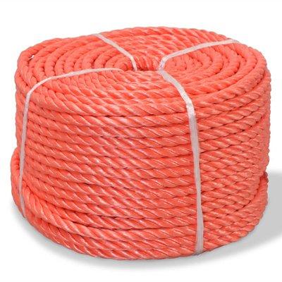 Touw gedraaid 8 mm 500 m polypropyleen oranje