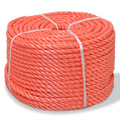 Touw gedraaid 16 mm 250 m polypropyleen oranje