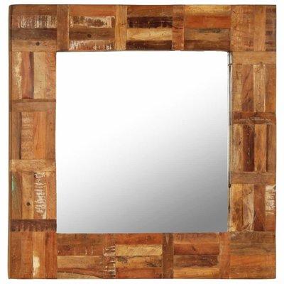Wandspiegel 60x60 cm massief gerecycled hout