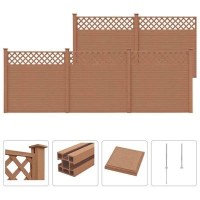 Schuttingset 5 vierkant 879x185 cm HKC bruin