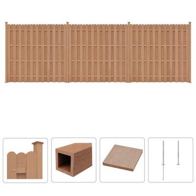 Schuttingset 3 vierkant 562x185 cm HKC bruin