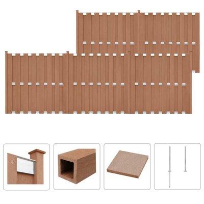Schuttingset 5 vierkant 932x185 cm HKC bruin