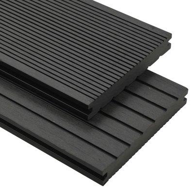 Terrasplanken met accessoires 10 m² 2,2 m massief HKC zwart