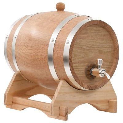 Wijnvat met kraantje 6 L massief eikenhout
