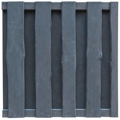 Schuttingpaneel 100x100 cm FSC grenenhout grijs