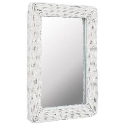 Spiegel 40x60 cm riet wit