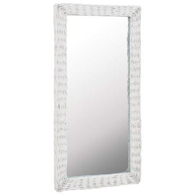Spiegel 50x100 cm riet wit