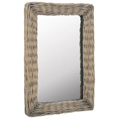 Spiegel 40x60 cm riet bruin