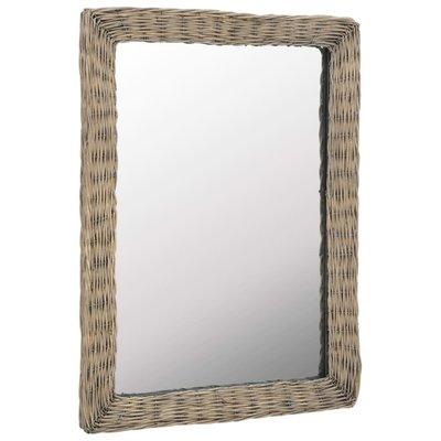Spiegel 60x80 cm riet bruin