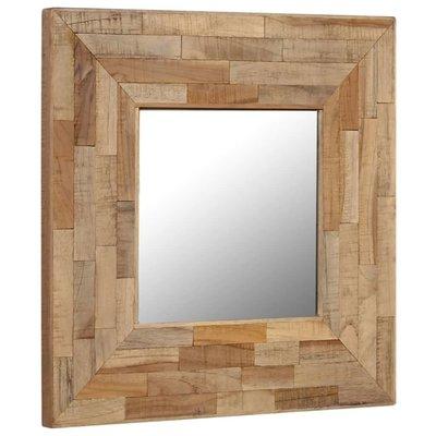 Spiegel 50x50 cm gerecycled teakhout
