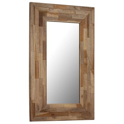 Spiegel 50x80 cm gerecycled teakhout
