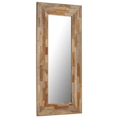Spiegel 50x110 cm gerecycled teakhout