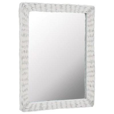 Spiegel 60x80 cm riet wit