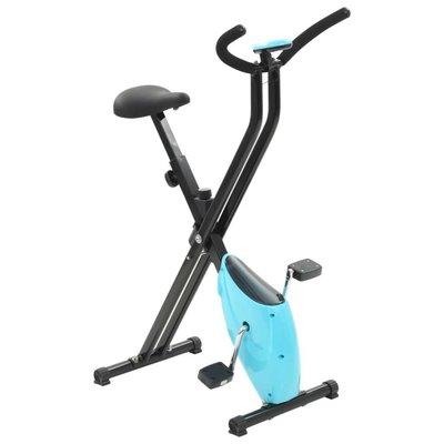 Hometrainer X-bike bandweerstand blauw