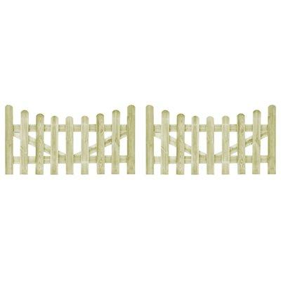 Poorten 2 st 150x80 cm FSC geïmpregneerd grenenhout