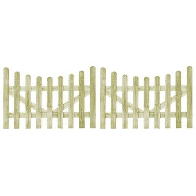 Poorten 2 st 150x100 cm FSC geïmpregneerd grenenhout