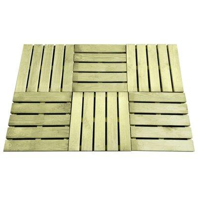 Terrastegels 6 st 50x50 cm FSC hout groen