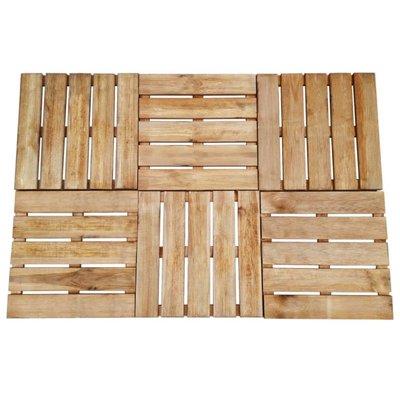 Terrastegels 6 st 50x50 cm FSC hout bruin