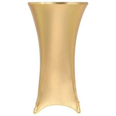 2 st Tafelhoezen stretch 80 cm goud