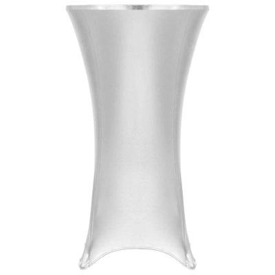 2 st Tafelhoezen stretch 80 cm zilver