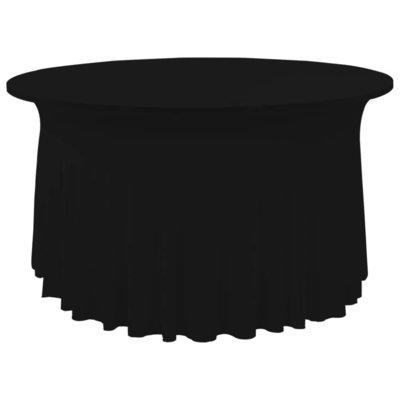 2 st Tafelhoezen stretch met rok 150x74 cm zwart