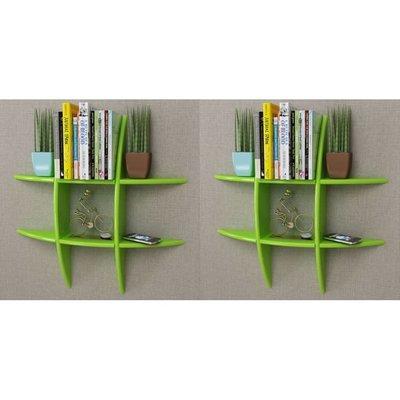Wandplanken 2 st groen