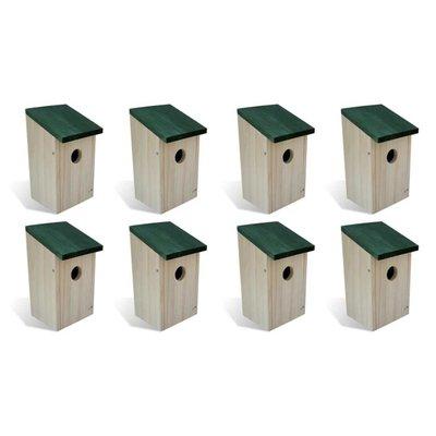 Vogelhuisjes 4 st 14x15x22 cm hout