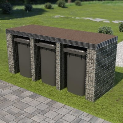 Schanskorf muur container 270x100x130 cm gegalvaniseerd staal