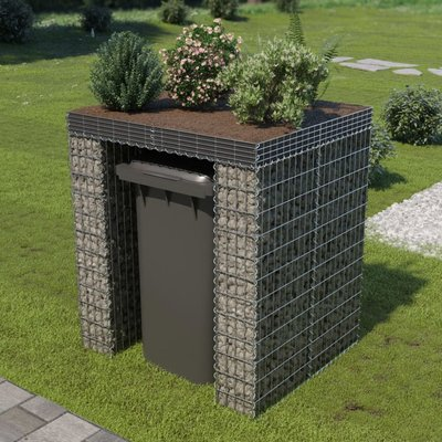 Schanskorf muur container 110x100x130 cm gegalvaniseerd staal