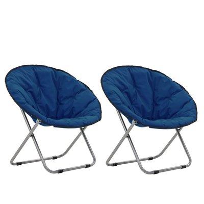 Maanstoelen inklapbaar 2 st blauw
