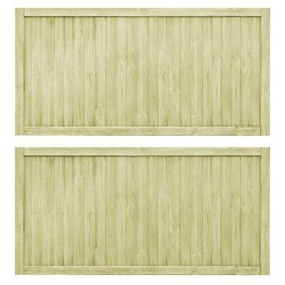 Poorten 2 st 400x100 cm FSC geïmpregneerd grenenhout