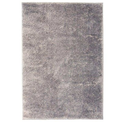 Vloerkleed shaggy hoogpolig 140x200 cm grijs