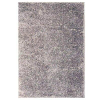 Vloerkleed shaggy hoogpolig 180x280 cm grijs